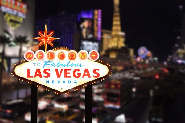 Welcome to Las Vegas Nevada With Strip in the Background